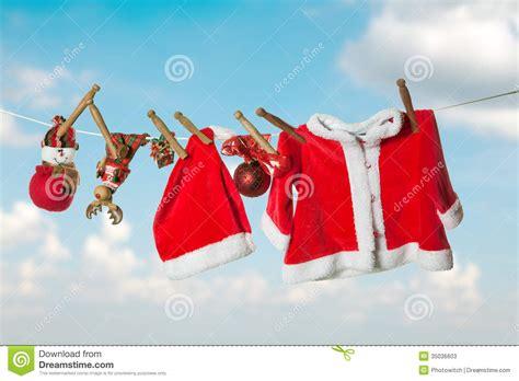 christmas laundry stock  image