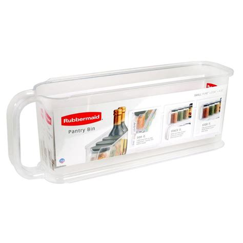 rubbermaid small pantry bin 1951586 the home depot