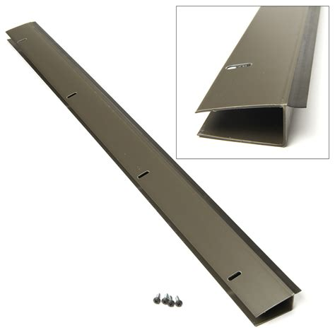 andersen door bottom sweep replacement u shaped door sweep king e o in x 36 in brite gold