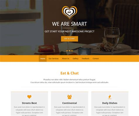 bootstrap templates for restaurant 33 top free hotel html5 templates for cafes restaurants