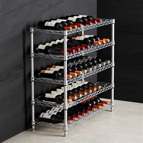 Container Store Wine Rack by Intermetro 5 Shelf Wine Rack The Container Store