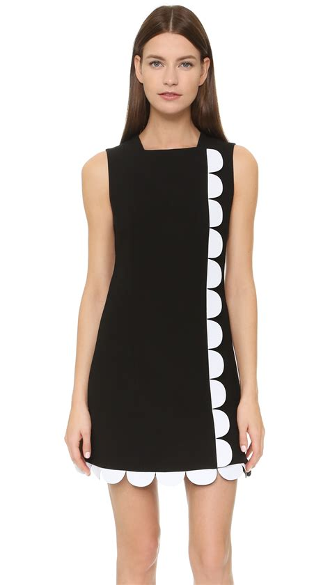 beckham scallop trim dress in black lyst