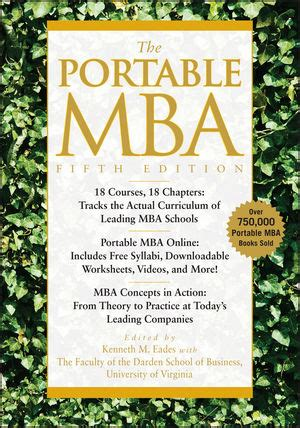 Edes Portable Mba Pdf wiley the portable mba 5th edition kenneth m eades