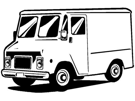 coloring page delivery truck truck coloring pages picgifs com