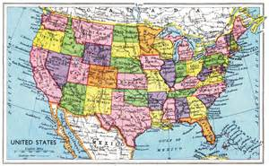 map of united states 1949 rage monthly magazine