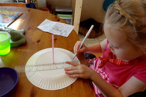 How To Make A Paper Sundial - paper plate sundial diy