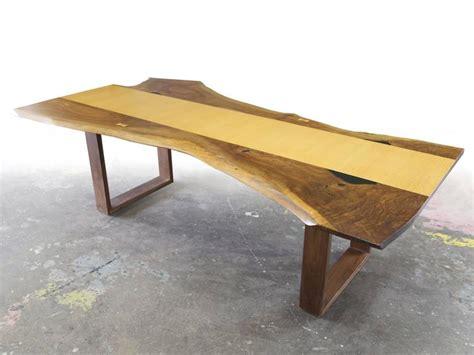edge slab dining table sentient live edge black walnut slab dining table with