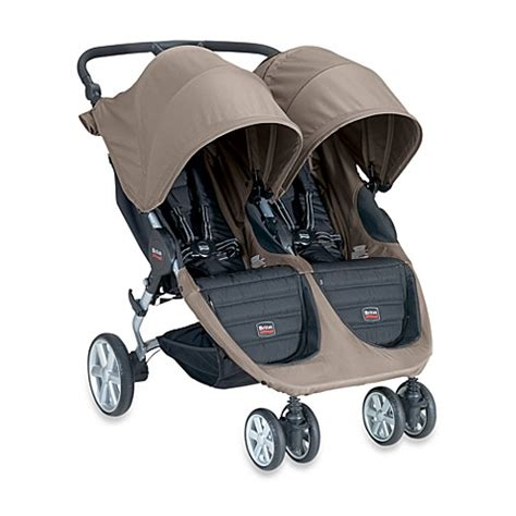 bed bath and beyond strollers britax b agile double stroller in sandstone bed bath