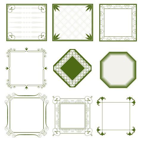 cornici ornamentali cornici verdi ornamentali scaricare vettori gratis