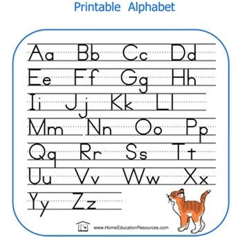 english alphabet for children printable