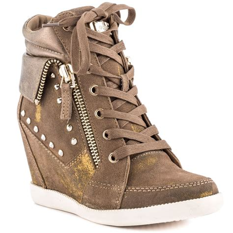 guess shoes guess hitzo med brown suede shoes for sneaker cabinet