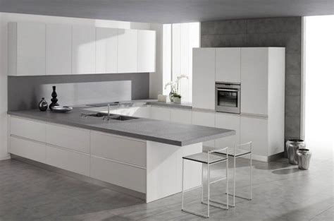 white bench tops light grey floor white cabinetry light grey bench tops
