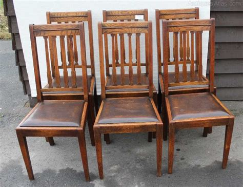 High Back Oak Dining Chairs Antiques Atlas 6 High Back Oak Dining Chairs With Leather Seats