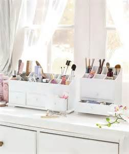 White Makeup Vanity Ebay New Wooden Vanity Cosmetic Makeup Storage Organizer