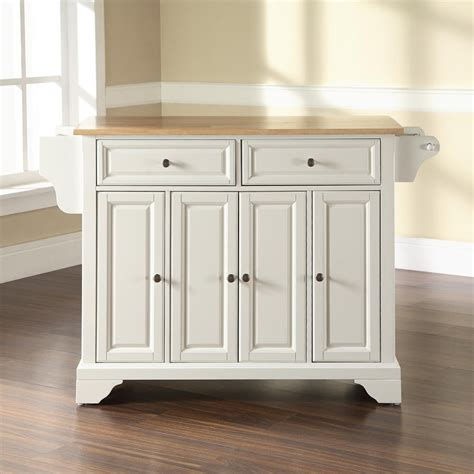 kitchen islands lowes shop crosley furniture white craftsman kitchen island at