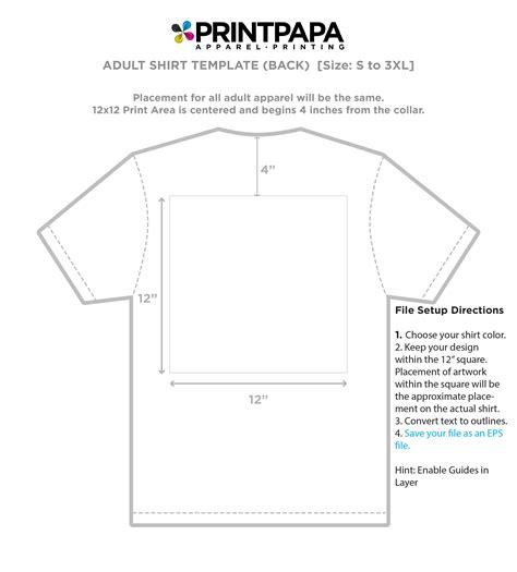 size t shirt template t shirt design size template networkuk net