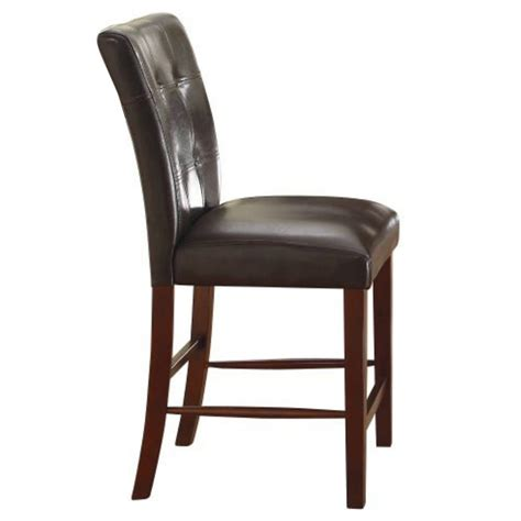 bar height desk chair homelegance decatur tufted counter height chair in dark