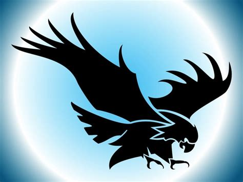 Flying Eagle Silhouette vector free   Free download