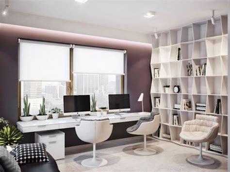 Luxurious Apartment in Ukraine Showcases sleek ... Fancy Office