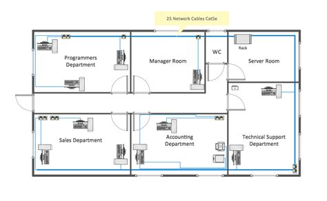 Floor Plan Layout Design | network layout floor plans solution conceptdraw com