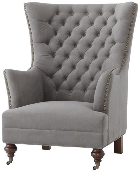 A Wing And A Chair by Delia Tufted Wingback Chair Wing Chair From Home Decorators