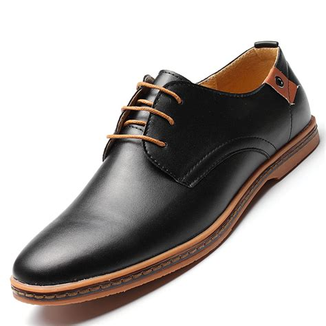 business dress leather shoes flat european casual