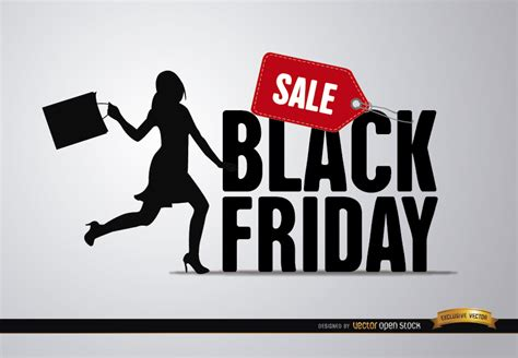 black friday sale black friday sale woman vector download