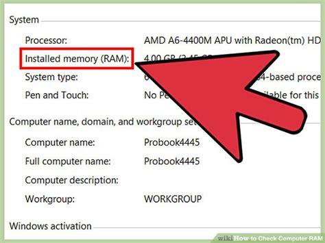 ram check windows 3 ways to check computer ram wikihow