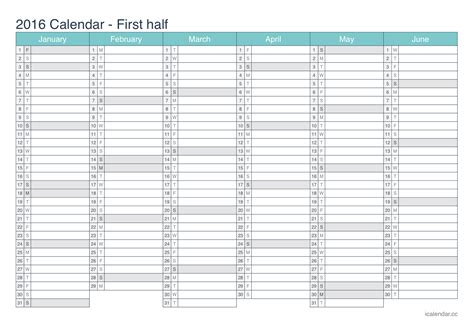 2016 year planner printable ireland 2016 printable calendar pdf or excel icalendars net
