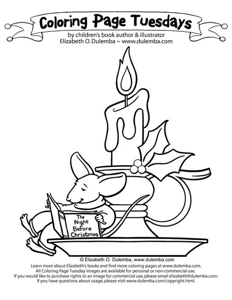 Coloring Page Tuesdays by Dulemba Coloring Page Tuesday Candle