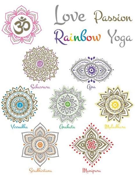 chakra temporary tattoos limited edition yogamasti