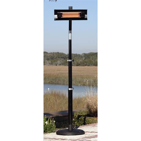 Fire Sense Black Powder Coated Steel Telescoping Offset Sense Infrared Patio Heater
