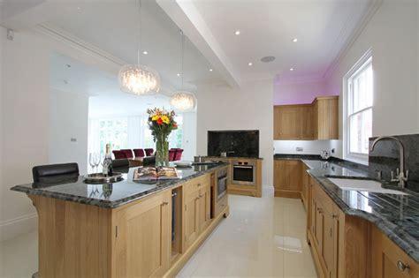 oak kitchen modern new oak shaker kitchen contemporary kitchen