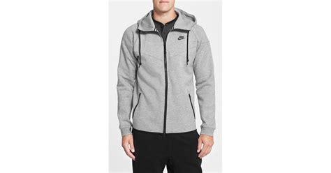 Jaket Nike Parasut Windrunner Grey lyst nike water repellent tech fleece windrunner jacket in gray for