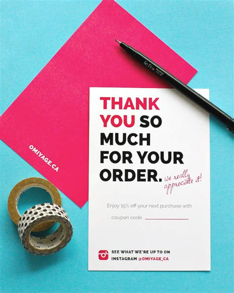 thank you letter after graphic design omiyage blogs totally design thank you cards