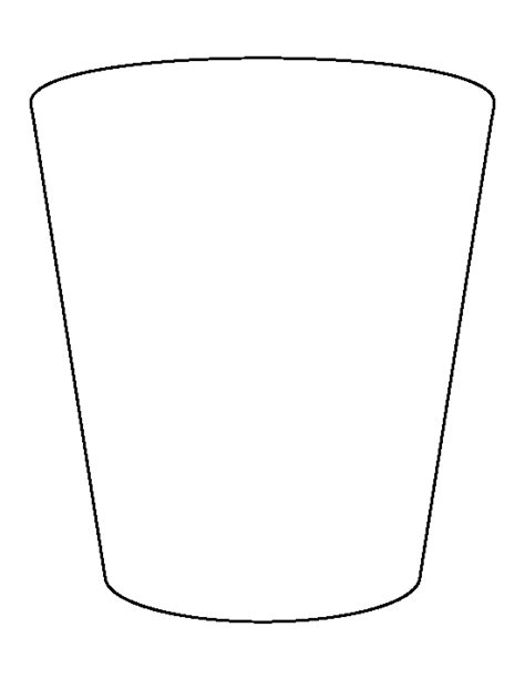 Shot Glass Pattern Use The Printable Outline For Crafts Creating Stencils Scrapbooking And Pint Template