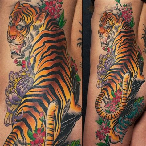 tiger side piece by bill canales full circle tattoo san