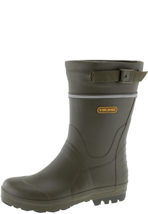 rubber boots for viking touring 2 green rubber boots a half height