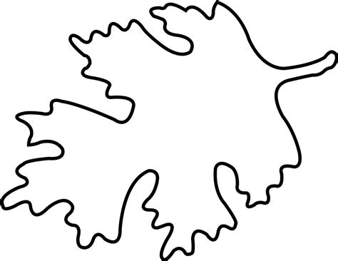free leaf template leaf outline template clipart best