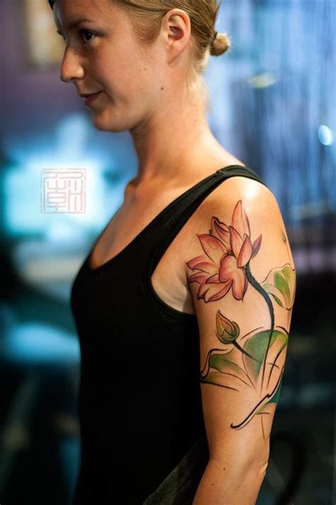 lotus tattoo hong kong flowers for liisa artwork and tattoo by wang tattoo