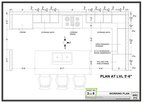 wall kitchen layout dimensions google search