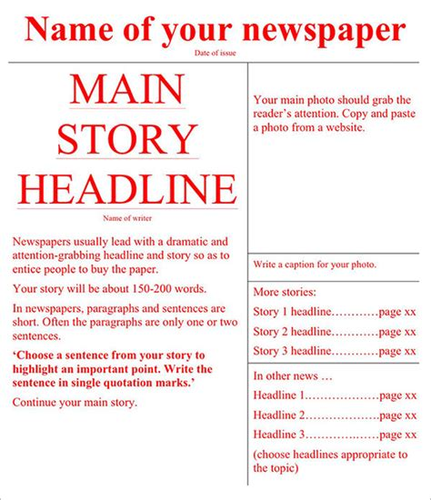 Newspaper Templates Free by Newspaper Template 42 Free Documents In Pdf