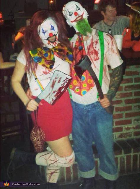 evil killer clowns couples halloween costume