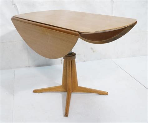 Drop Side Dining Table Modern Blond Mahogany Drop Side Dining Table Sty