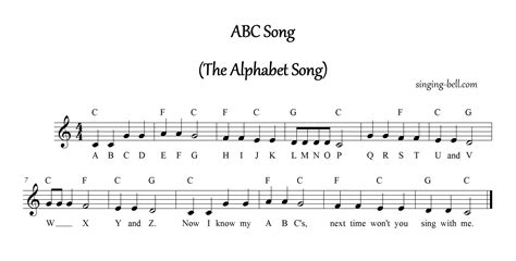 Letter Song Lyrics Free Nursery Rhymes Gt Abc Song The Alphabet Song Free Mp3 Audio