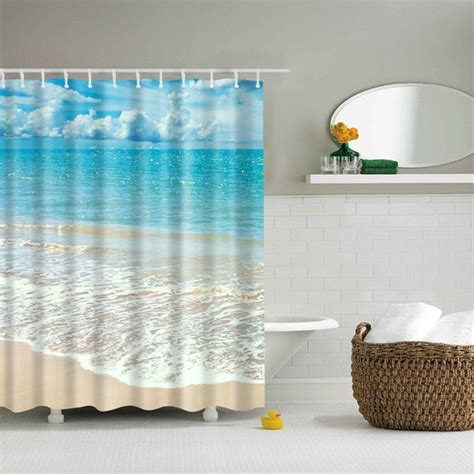 m m shower curtain wholesale mouldproof waterproof beach bath shower curtain