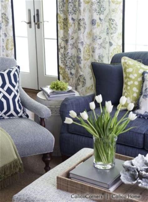 fabrics living rooms  green accents  pinterest
