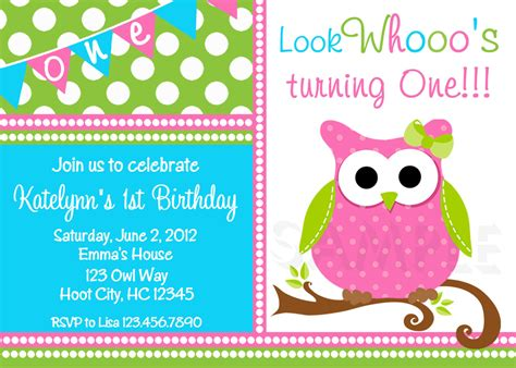 printable owl party invitations birthday party invitations girls owl birthday party