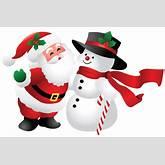 Christmas Santa and Snowman PNG Clipart