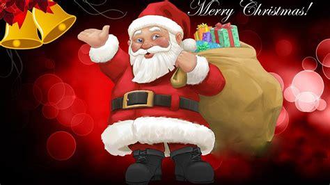 merry christmas santa claus christmas gifts  children greeting card  wallpaperscom